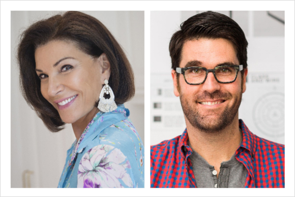 Interior designers and TV personalities Hillary Farr and Brian Patrick Flynn to host the American Home Furnishings Hall of Fame induction celebration
